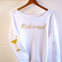 Bridal Party Shirt Bachelorette Bride Bridesmaid Wedding Hen Do Engagement Birthday Glitter Shirt Sweatshirt ELBOW PATCH ONLY Gift Idea