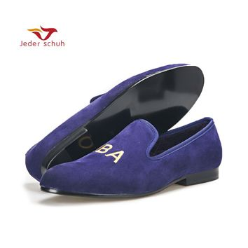 Men shoes customize embroidery men party loafers Fashion prom and Banquet men dress shoes British style smoking slippers