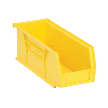 Quantum Storage Systems Ultra Stack And Hang Bin 10-7/8Lx 4-1/8Wx 4H - Yellow Pack Of 12