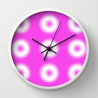 Pink Eye Boggler Wall Clock by Karl Wilson Photography
