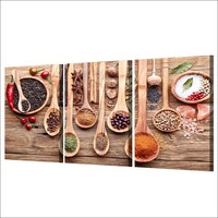 3 pcs Grains Spices Spoon Wall Art Canvas Print Picture Poster Restaurant