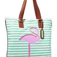 BetseyJohnson.com - CUT IT OUT TOTE GREEN