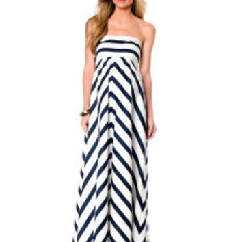 Jessica Simpson Spaghetti Strap Empire Waist Maternity Maxi Dress