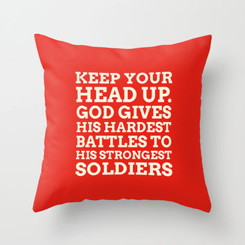 Keep your head up - COLOR8 Throw Pillow by cooledition