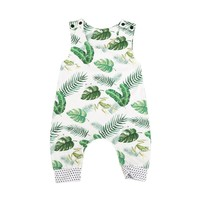 Baby Rompers Sleeveless Newborn Baby Boy Girl Romper Print Jumpsuit Outfits Summer Sunsuit Baby Clothes