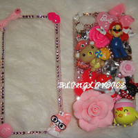 bling pink my melody iPhone 4 iphone 5 case made with Swarovski Diamond Crysta