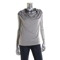 Wyatt Womens Heathered Ruched Pullover Top