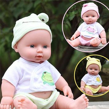 Baby Doll Soft Vinyl Silicone Lifelike Newborn Baby Doll for Girls Birthday Gift Simulation Baby Sleeping Calm Doll
