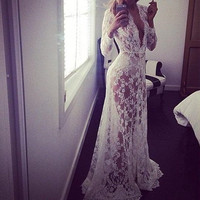 Haven Lace Maxi Dress