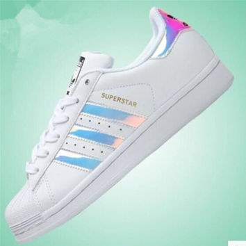 """Adidas"" Fashion Shell-toe Flats Sneakers Sport Shoes Laser"