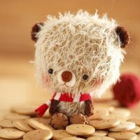 Bibu  miniature amigurumi bear plush toy made to by knittingdreams