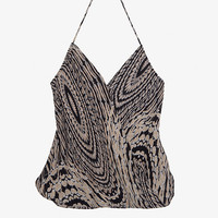 Chelsea Flower EXCLUSIVE Printed Halter Wrap Top-Just In-Clothing-Categories- IntermixOnline.com