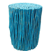 Blue Forest Stool