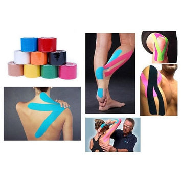 Kinesiology Sports Muscles Care Elastic Physio Therapeutic Tape 197*1.97  inch = 5617234945