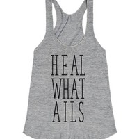 Heal What Ails-Female Athletic Grey T-Shirt