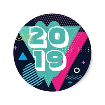 New Years Classic Round Sticker