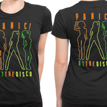 Panic! At The TShirt Disco Too Weird To Live Too Rare To Die Rock Band 2 Sided Womens T Shirt