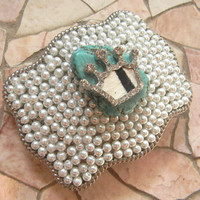 Turquoise Princess Crown,Pearl Belt, Silver Rhinestone Belt Buckle Western Calf Hair on Hide Cowhide Pearl Western Womens Girls Buckle,