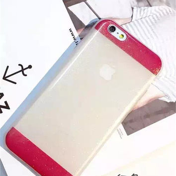 Cute Hot Sale Iphone 6/6s Hot Deal Stylish On Sale Transparent Pink Phone Case [6034153601]