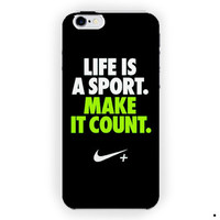 Nike Quotes Life Sport Design For iPhone 6 / 6 Plus Case