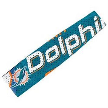 Miami Dolphins Jersey Fanbands HEADBAND NFL Women Ladies Team Apparel