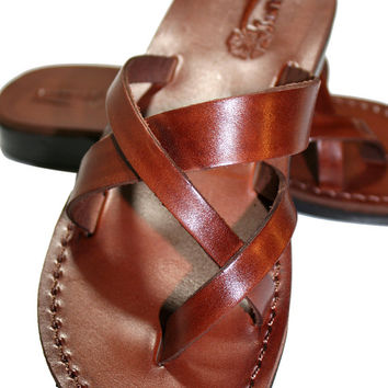 Brown Comply Leather Sandals for Men & Women