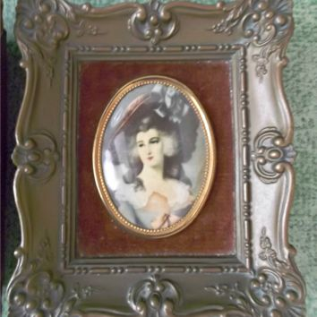 Pair of Vintage Cameo Creation Frames Lady Sheffield and Isabella Montgomery