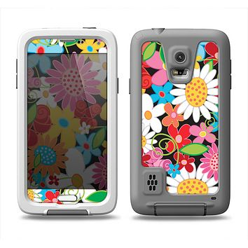 The Vibrant vector Flower Petals Samsung Galaxy S5 LifeProof Fre Case Skin Set