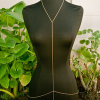 Gold Universal Body Chain Harness