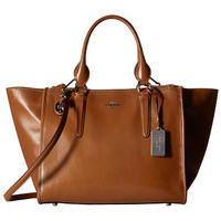COACH Smooth Leather Crosby Carryall-SV/Saddle