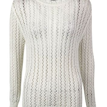 Karen Kane Women's Tape-Yarn Open-Knit Sweater