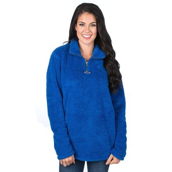 Linden Sherpa Pullover in Royal by Lauren James - FINAL SALE