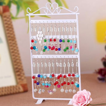 1pcs 48 Hole Earrings Ear Studs Jewelry Display Rack Metal Stand Holder Showcase Hot Selling