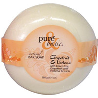 Pure And Basic Bar Soap Grapefruit Verbena (6x6.4 Oz)