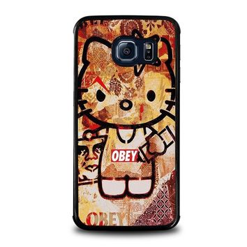 obey hello kitty samsung galaxy s6 edge case cover  number 1