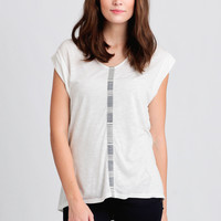 Sweet Nothings Stripe Accent Top