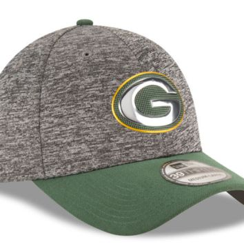 Green Bay Packers New Era Heathered Gray/Green 2016 NFL Draft 39THIRTY Flex Hat
