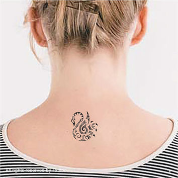 Swan, 2pcs- Temporary Tattoo T314