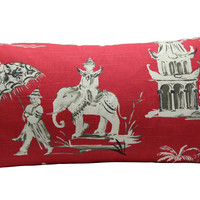 Elephant Chinoiserie Pillow