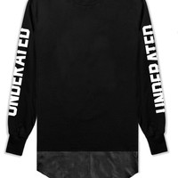 Gladiator Leather Panel L/S Tee - Black