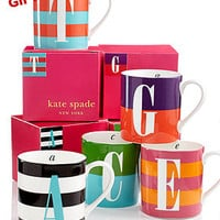 kate spade new york Wickford Monogram Mug Collection