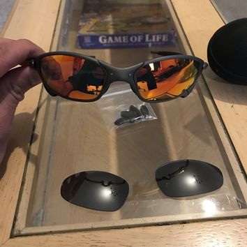 Oakley Juliet X Metal sunglasses/ ruby iridium and spare black iridium lenses