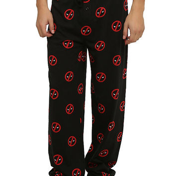 Marvel Deadpool Logo Guys Pajama Pants