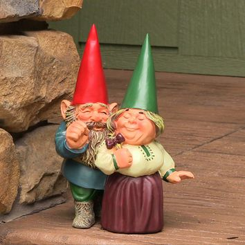 Sunnydaze Decor Standing Garden Gnome Cute Couple