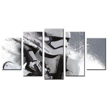 Modern Wall Art Stormtrooper Canvas Star Wars Movie Poster Print Descorative Pictures Painting For Home Decor Livingroom Decor