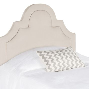 Kerstin Taupe Arched Headboard Twin