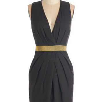 ModCloth LBD Mid-length Sleeveless Sheath Spiff I Fall in Love Dress