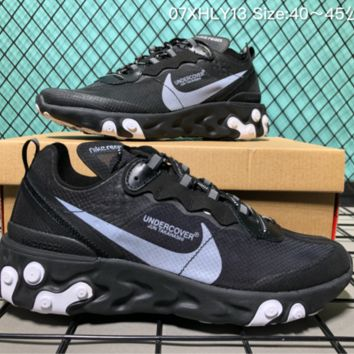 DCCK3 Nike Upcoming React Element 87 Undercover X Fashion Running ShoesBlack