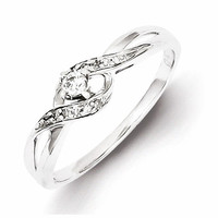 Sterling Silver Diamond Promise Ring