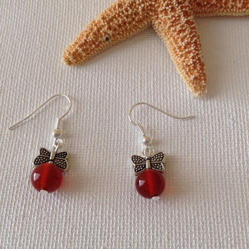 Red agate butterfly earrings, agate earrings, butterfly earrings, mothers day, birthday gifts, gofts for her, nature lovers
